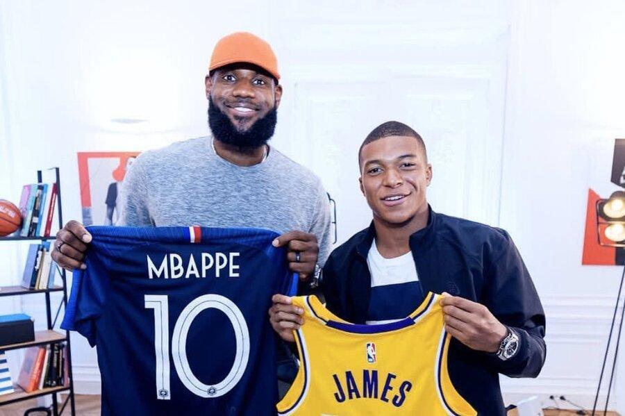 ملاقات ستاره فوتبال فرانسه با پادشاه بسکتبال
